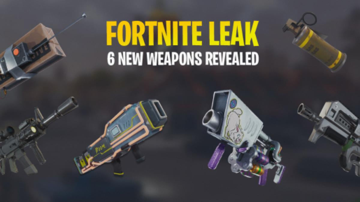 Latest Leak Shows Six New Weapons For Fortnite