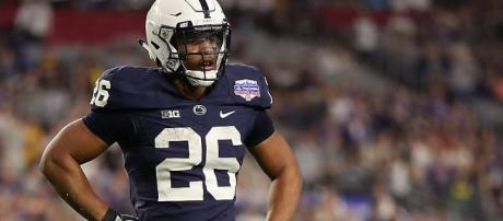 Saquon Barkley looks to be the first player drafted in 2018 (Image via Chris Spon/Wikipedia)