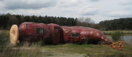 CasAnus, um hotel inusitado na Bélgica em formato de intestino.