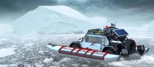 El viaje transcontinental de Glickenhaus con un vehículo anfibio.
