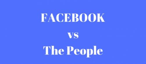 Facebook vs The People designed by Louann Carroll