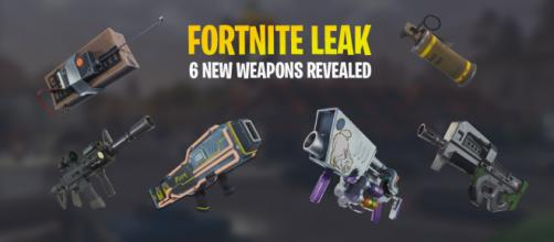"Huge leak shows six new weapons for ""Fortnite Battle Royale."" Image Credit: Own work"