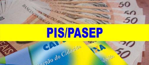 O PIS é pago pela Caixa Econômica Federal e o PASEP pelo Banco do Brasil