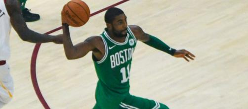 Photo of Kyrie Irving as a member of the Celtics. Image credit: Erik Drost | Flickr