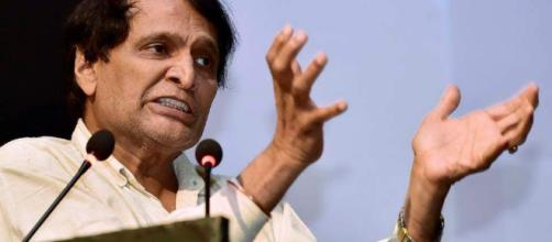 Suresh Prabhu gets additional charge of Civil Aviation Ministry ... (Image via newindianexpress.com/Youtube)
