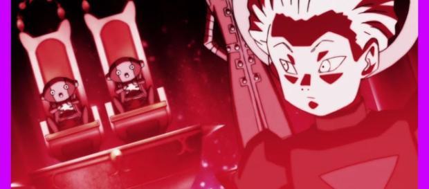 Daishinkan sama mira tenebrosamente a los Zenos