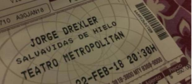Detalle del boleto de entrada al concierto