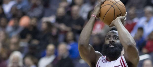 James Harden in action against the Raptors [Image via NBA/Wikipedia]