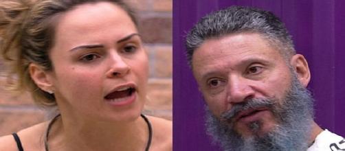 Ana Paula xingou Laércio de pedófilo no BBB e ele acabou sendo preso meses depois (Foto: TV Globo)
