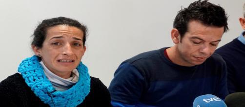 Los padres de Gabriel, en una rueda de prensa