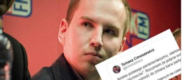 Adam Andruszkiewicz w starciu z Tomaszem Cimoszewiczem.
