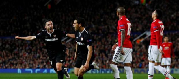 El cambio de Ben Yedder fue clave en la vuelta vs el United. trome.com.