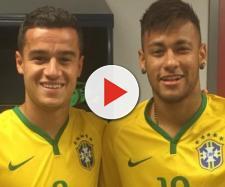 Philippe Coutinho e Neymar na Seleção do Brasil