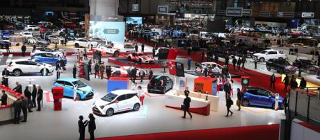 Le stand Toyota durant le Geneva International Motor Show 2018