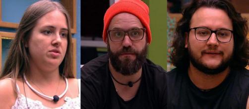Diego, Patrícia e Caruso, são os emparedados desta semana BBB18.