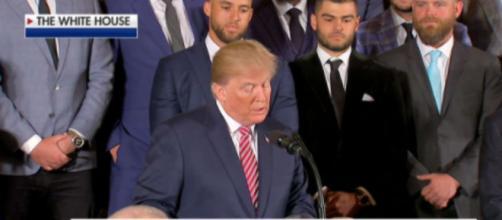 Donald Trump meets Houston Astros, via Twitter