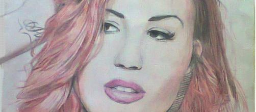 Drawing of Demi Lovato -- BiaGodLover/Flickr