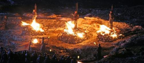 R'hllor, el señor de luz representado por el fuego