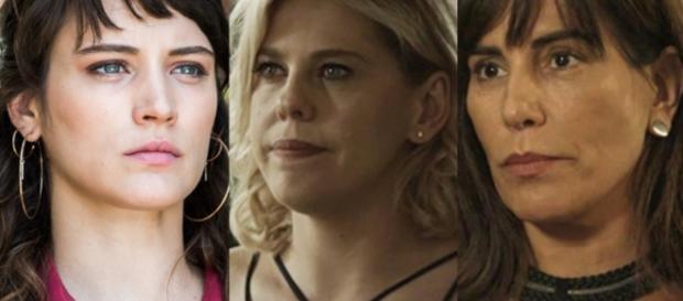 Clara, Jô e Beth na novela 'O Outro Lado do Paraíso'