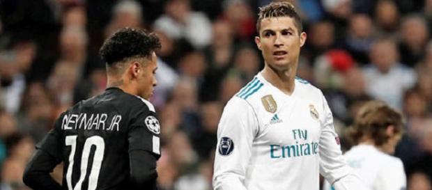 Cristiano Ronaldo e Neymar se reencontraram na Champions League