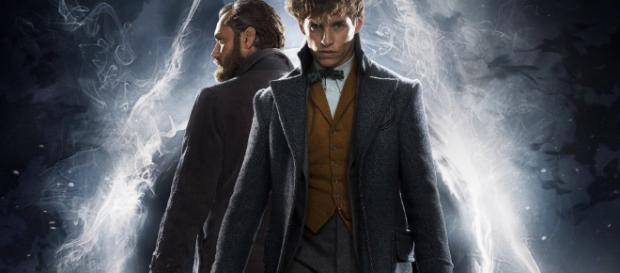 Jude Law(Silente) ed Eddie Redmayne(Scamander) nel nuovo film di J.K. Rowling, spin-off di Harry Potter.