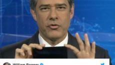 Bonner fala muito no Twitter e reclama de agressividade das redes sociais