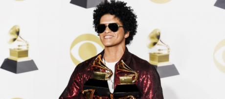 Bruno Mars at 2018 Grammy Awards.(Image via Event registry)