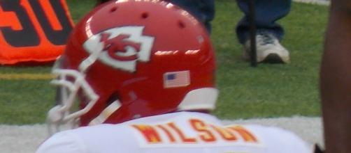 Albert Wilson in Kansas City Cheifs uniform. - [Baseballnick55 via Wikimedia Commons]
