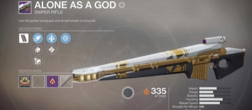 'Destiny 2's' Alone as a God sniper rifle - YouTube/xHOUNDISHx