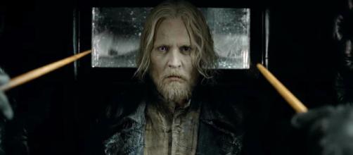 Johnny Depp caracterizado como Gellert Grindelwald en 'Animales Fantásticos: Los crímenes de Grindelwald'