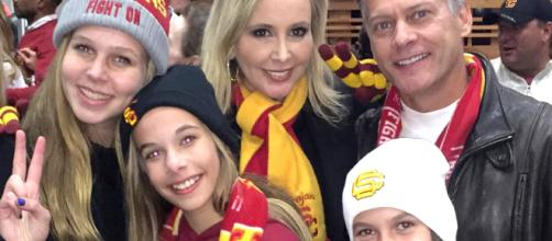 The Beadors attend a USC football game. [Photo via Instagram]