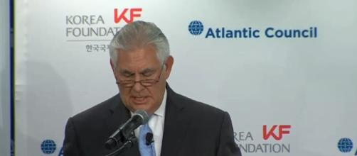 Trump and Tillerson were rarely in agreement. [image source: CHANNEL90seconds newscom/YouTube screenshot]