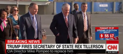 Trump fires Secretary of State Rex Tillerson. [Image Via CNN/Youtube Screencap]