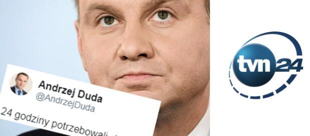 Prezydent Polski Andrzej Duda skrytykował stację TVN.