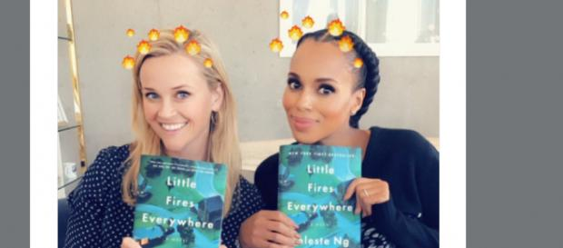 Reese Witherspoon and Kerry Washington announcing their new project. (Image Credit: Reese Witherspoon/Twitter)