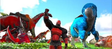 A screenshot from 'ARK' (Extinction Core) - (Image Credit: KingDaddyDMAC/YouTube)