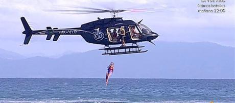 El salto del helicóptero en Supervivientes