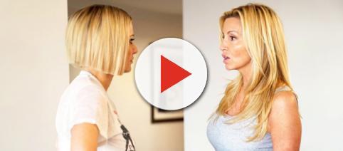 Dorit Kemsley and Camille Grammer battle on 'RHOBH.' [Photo via Bravo/YouTube]