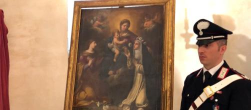 Una delle opere recuperate dai Carabinieri TPC, Tutela Patrimonio Culturale