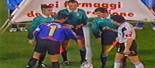 Una foto dell'ultimo Foggia-Cesena, disputato allo Zaccheria il 21 dicembre 1996