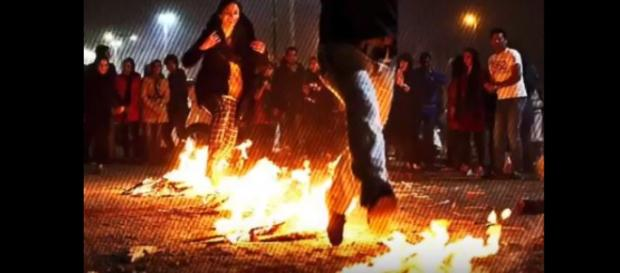 Iran Fire festival - Image credit - United News International | YouTube