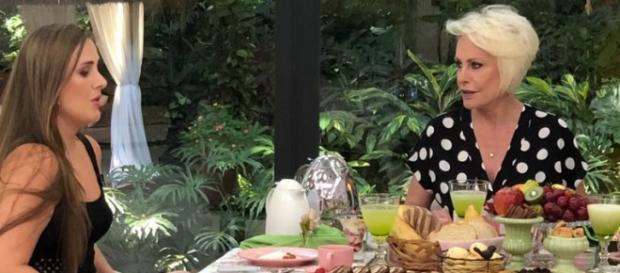 Patrícia em sua participação no programa de Ana Maria Braga