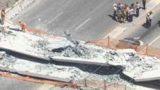 Catástrofe: Cae puente peatonal en Florida