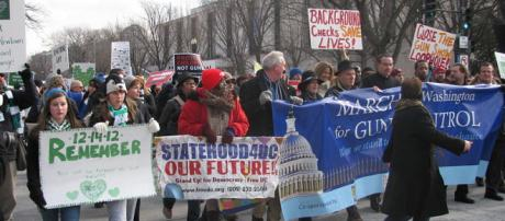 March on Washington for Gun Control. - [Image credit – Slowking4, Wikimedia Commons]