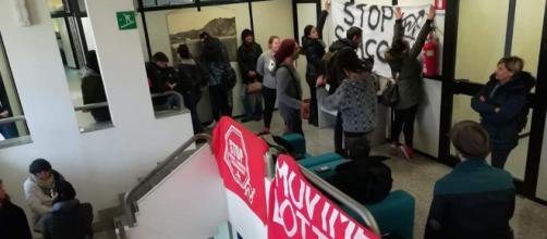 il Movimento di Lotta per la Casa Cagliari ha occupato gli uffici di Abbanoa nel capoluogo sardo