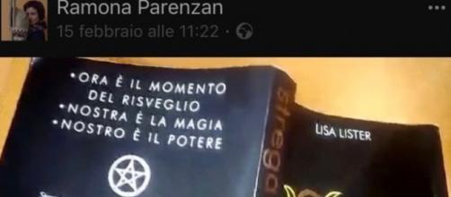 """Immagine del libro """"Strega"""" di Lisa Lister, di cui sono stati letti alcuni stralci, in classe a Brescia"""