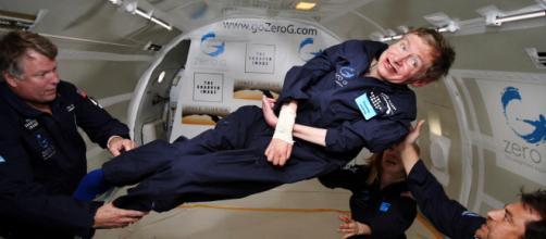 Stephen Hawking in zero gravity [image credit: Pingnews.com/Flickr]