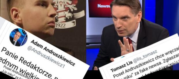 Adam Andruszkiewicz kontra Tomasz Lis.