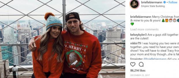 Brielle Biermann and boyfriend Michael Kopech during the holidays. - [Image: Instagram:Brielle Biermann]