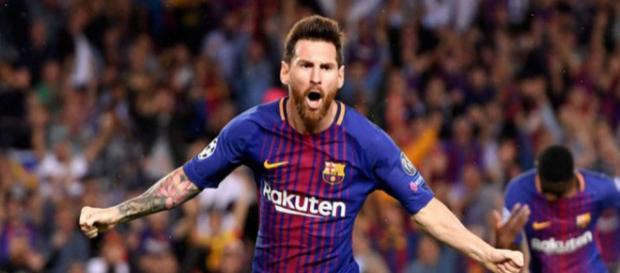 Lionel Messi batiendo récords en la Champions